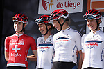 Cervelo- Bigla Pro Cycling Team at sign on before the 2018 Liege-Bastogne-Liege Femmes running 136km from Bastogne to Ans, Belgium. 22nd April 2018.<br /> Picture: ASO/Thomas Maheux | Cyclefile<br /> All photos usage must carry mandatory copyright credit (© Cyclefile | ASO/Thomas Maheux)