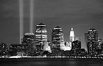 world trade center, tribute in lights