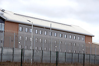 Pictured: HM Prison Berwyn, Wrexham, North Wales, UK on 1st March 2017.<br /> General views of the new;y opened prison, and scenes showing parts of the newly opened prison are still under construction from workmen