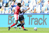 Sheffield Wednesday's Jacob Murphy is fouled by Nottingham Forest's Sammy Ameobi <br /> <br /> Photographer Rich Linley/CameraSport<br /> <br /> The EFL Sky Bet Championship - Sheffield Wednesday v Nottingham Forest - Saturday 20th June 2020 - Hillsborough - Sheffield <br /> <br /> World Copyright © 2020 CameraSport. All rights reserved. 43 Linden Ave. Countesthorpe. Leicester. England. LE8 5PG - Tel: +44 (0) 116 277 4147 - admin@camerasport.com - www.camerasport.com