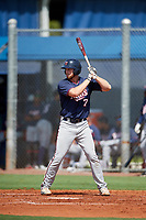 GCL Twins first baseman Gabe Snyder (7) at bat during a game against the GCL Rays on August 9, 2018 at Charlotte Sports Park in Port Charlotte, Florida.  GCL Twins defeated GCL Rays 5-2.  (Mike Janes/Four Seam Images)