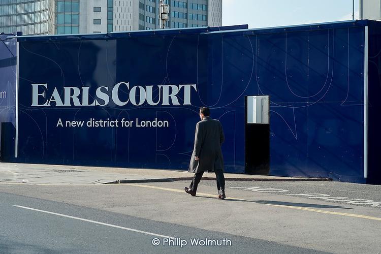 Earls Court development site, London.