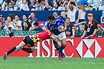Samoa vs Belgium during the HSBC Sevens Wold Series match of the Cathay Pacific / HSBC Hong Kong Sevens at the Hong Kong Stadium on 28 March 2015 in Hong Kong, China. Photo by Juan Manuel Serrano / Power Sport Images