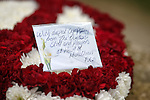 Floral tributes from Heart of Midlothian FC