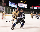 Blake Box (Army - 12), Tyler Deresky (Bentley - 11) - The Bentley University Falcons defeated the Army West Point Black Knights 3-1 (EN) on Thursday, January 5, 2017, at Fenway Park in Boston, Massachusetts.The Bentley University Falcons defeated the Army West Point Black Knights 3-1 (EN) on Thursday, January 5, 2017, at Fenway Park in Boston, Massachusetts.