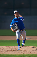 Kansas City Royals pitcher Garrett Davila (17) during an instructional league intersquad game on October 21, 2015 at the Papago Baseball Facility in Phoenix, Arizona.  (Mike Janes/Four Seam Images)