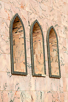 Senegal, Touba.  Arched Windows in the Grand Mosque.