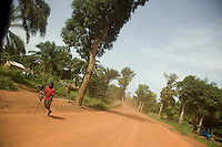 Street scene between Naandi and Yambio in South Sudan.
