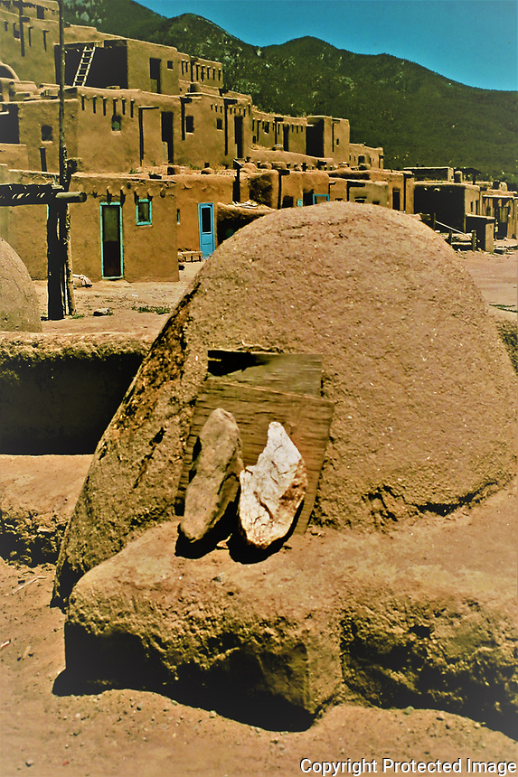 Traditional horno or bread oven, Taos Pueblo, New Mexico