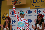Fredrik Kessiakoff (SWE) Astana Pro Team takes over the mountains Polka Dot Jersey at the end of Stage 12 of the 99th edition of the Tour de France 2012, running 148km from Saint-Jean-de-Maurienne to Annonay-Davezieux, France. 13th July 2012.<br /> (Photo by Thomas van Bracht/NEWSFILE)