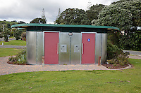Ohope, New Zealand.  Public Toilets, for the convenience of tourists and visitors.