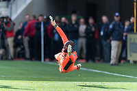 LOS ANGELES, CA - MARCH 01: Kenneth Vermeer #1 of LAFC dives to protect the goal in a match against Inter Miami CF during a game between Inter Miami CF and Los Angeles FC at Banc of California Stadium on March 01, 2020 in Los Angeles, California.
