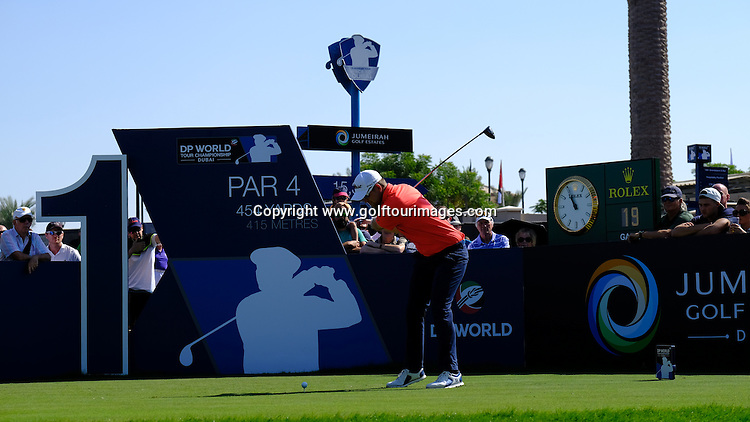 Bernd WIESBERGER (AUT) during round two of the 2016 DP World Tour Championships played over the Earth Course at Jumeirah Golf Estates, Dubai, UAE: Picture Stuart Adams, www.golftourimages.com: 11/18/16