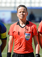 20190306 - LARNACA , CYPRUS : Finnish assistant referee Tonja Paavola pictured during a women's soccer game between Slovakia and Hungary , on Wednesday 6 th March 2019 at the Antonis Papadopoulos stadium in Larnaca , Cyprus . This last game for both teams which decides for places 11 and 12 of the Cyprus Womens Cup 2019 , a prestigious women soccer tournament as a preparation on the Uefa Women's Euro 2021 qualification duels. PHOTO SPORTPIX.BE | DAVID CATRY