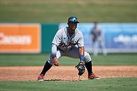 Detroit Tigers third baseman Alvaro Gonzalez (27) during a Florida Instructional League intrasquad game on October 17, 2020 at Joker Marchant Stadium in Lakeland, Florida.  (Mike Janes/Four Seam Images)