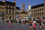 Europe, ITA, Italy, Tuscany, Florence, Piazza della Signoria, Neptune Fountain by Bartolomeo Ammanati, Tourists....[ For each utilisation of my images my General Terms and Conditions are mandatory. Usage only against use message and proof. Download of my General Terms and Conditions under http://www.image-box.com or ask for sending. A clearance before usage is necessary...Material is subject to royalties. Each utilisation of my images is subject to a fee in accordance to the present valid MFM-List...Contact | archive@image-box.com | www.image-box.com ]