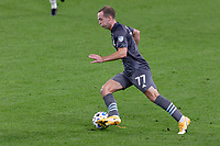 ST PAUL, MN - SEPTEMBER 27: Chase Gasper #77 of Minnesota United FC controls the ball during a game between Real Salt Lake and Minnesota United FC at Allianz Field on September 27, 2020 in St Paul, Minnesota.