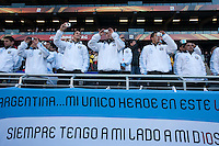 Argentina fans take pictures before the nation anthem at Soccer City in Johannesburg, South Africa on Thursday, June 17, 2010 during Argentina's and South Korea FIFA World Cup first round match.