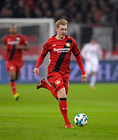 12.01.2018,  Football 1.Liga 2017/2018, 18. match day, Bayer Leverkusen - FC Bayern Muenchen, in BayArena Leverkusen. Julian Brandt (Leverkusen) . *** Local Caption *** © pixathlon<br /> <br /> +++ NED + SUI out !!! +++<br /> Contact: +49-40-22 63 02 60 , info@pixathlon.de