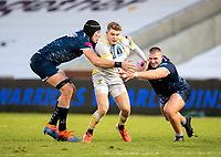 27th December 2020; AJ Bell Stadium, Salford, Lancashire, England; English Premiership Rugby, Sale Sharks versus Wasps;  Will Porter of Wasps  is tackled by   JP du Preez and  Valerie Morozov of Sale Sharks