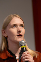 Sue Charman, consultant and writer on social software, at the Les Blog conference in Paris December 2005 on blogging, new media and internet strategy