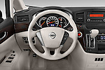 Car pictures of steering wheel view of a 2015 Nissan Quest s 5 Door Mini Van