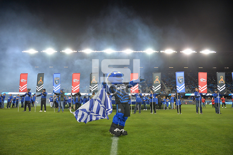 San Jose, CA - Saturday March 03, 2018: Q during a 2018 Major League Soccer (MLS) match between the San Jose Earthquakes and Minnesota United FC at Avaya Stadium.