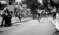 Danny Van Poppel (NLD/Trek Factory Racing) stays ahead of a chasing peloton and wins his 2nd stage in this Tour de Wallonie<br /> <br /> Tour de Wallonie 2015<br /> stage 5: Chimay - Thuin (167km)