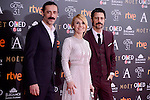 Nacho Fresneda, Cayetano Guillen Cuervo and Hugo Silva attends to the Red Carpet of the Goya Awards 2017 at Madrid Marriott Auditorium Hotel in Madrid, Spain. February 04, 2017. (ALTERPHOTOS/BorjaB.Hojas)