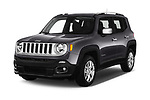 2018 Jeep Renegade Limited 5 Door SUV angular front stock photos of front three quarter view