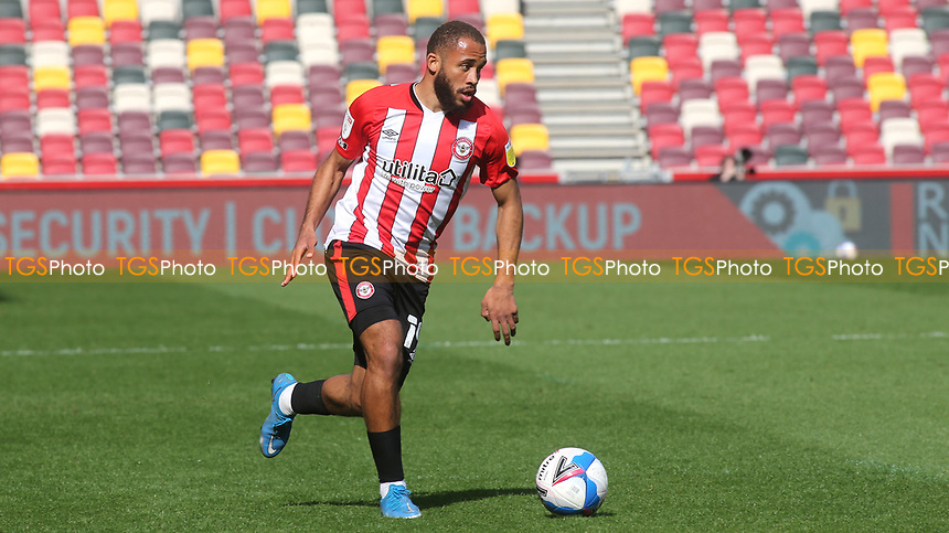 Bryan Mbeumo of Brentford in action during Brentford vs Watford, Sky Bet EFL Championship Football at the Brentford Community Stadium on 1st May 2021