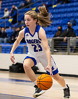 Ava Maner (23) of Rogers drives to the basket against Fayetteville at King Arena, Rogers, AR January 8, 2021 / Special to NWA Democrat-Gazette/ David Beach