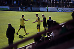 Arbroath 0 Edinburgh City 1, 15/03/2017. Gayfield Park, SPFL League 2. The visitors make a second-half substitution as Derek Riordan is replaced by Aaron Dunsmore at Gayfield Park as Arbroath hosted Edinburgh City (in yellow) in an SPFL League 2 fixture. The newly-promoted side from the Capital were looking to secure their place in SPFL League 2 after promotion from the Lowland League the previous season. They won the match 1-0 with an injury time goal watched by 775 spectators to keep them 4 points clear of bottom spot with three further games to play. Photo by Colin McPherson.