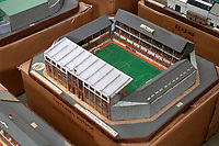 BNPS.co.uk (01202 558833)<br /> Pic: Zachary Culpin/BNPS<br /> <br /> Pictured: Tottenham's old White Hart Lane<br /> <br /> An incredible collection of model football stadiums handmade by a soccer fan have sold for almost £19,000 after being found in a storage unit.<br /> <br /> Model-maker John Le Maitre created miniature versions of all 92 English Football League club grounds from the 1980s, as well as the old Wembley Stadium.<br /> <br /> They featured on a Blue Peter episode that year and are a throwback to a bygone age when football grounds with their banks of terraces looked very different to today's super stadiums.