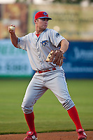 3rd Baseman Travis Mattair of the Clearwater Threshers during the game against the Daytona Beach Cubs at Jackie Robinson Ballpark on April 12, 2011 in Daytona Beach, Florida. Photo by Scott Jontes / Four Seam Images