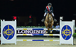 Simon Dekestre during the HKJC Race of the Rider during the Longines Masters of Hong Kong on 19 February 2016 at the Asia World Expo in Hong Kong, China. Photo by Juan Manuel Serrano / Power Sport Images