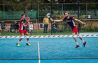 Netherlands, September 6,  2020, Amsterdam, Padel Dam, NK Padel, National Padel Championships, men's semifinal, Sten Richters (NED) and Robin Sietsma (NED) (R)<br /> Photo: Henk Koster/tennisimages.com