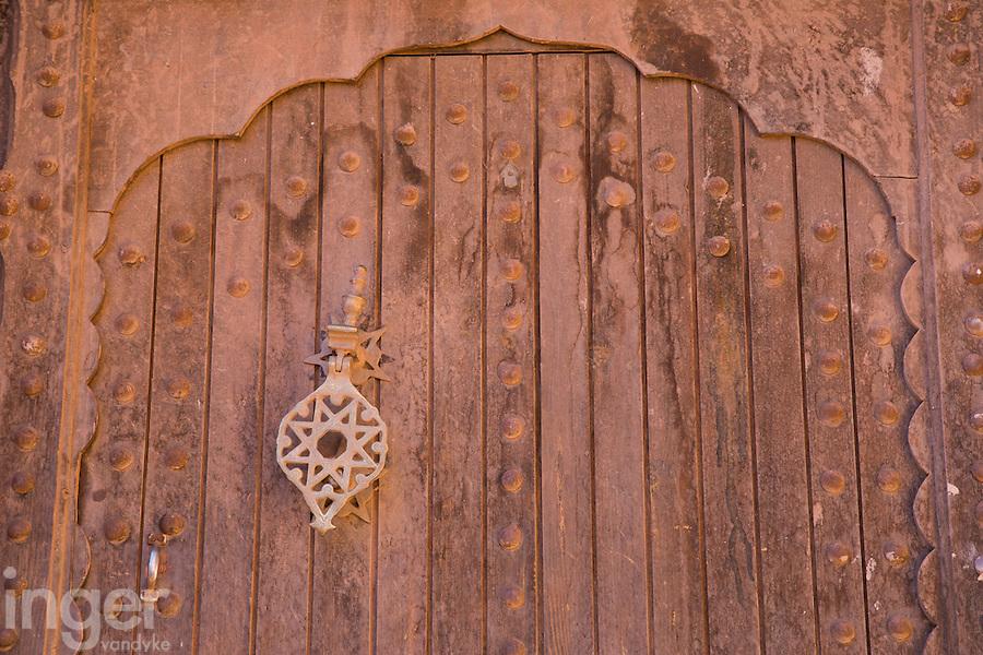 Doorway detail inside Ait Ben Haddou