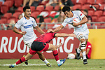 Lafaele Tuliu Vaa of Samoa runs with the ball during the match Wales vs Samoa, Day 2 of the HSBC Singapore Rugby Sevens as part of the World Rugby HSBC World Rugby Sevens Series 2016-17 at the National Stadium on 16 April 2017 in Singapore. Photo by Victor Fraile / Power Sport Images