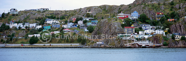 St. John's, Newfoundland and Labrador, Canada - The Battery Neighbourhood along the Harbour below Signal Hill - Panoramic View
