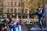 Recording artist Macklemore performs before the MLS Cup