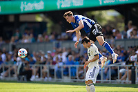 SAN JOSE, CA - AUGUST 8: Tanner Beason #15 during a game between Los Angeles FC and San Jose Earthquakes at PayPal Stadium on August 8, 2021 in San Jose, California.