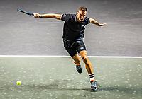 Rotterdam, The Netherlands, 28 Februari 2021, ABNAMRO World Tennis Tournament, Ahoy, Qualyfying match:  Marton Fucsovics (HUN)  <br /> Photo: www.tennisimages.com/henkkoster