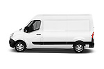 Car Driver side profile view of a 2016 Nissan NV400 Acenta 4 Door Cargo Van Side View