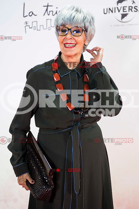 """Concha Velasco during the premiere of the spanish film """"Un Monstruo Viene a Verme"""" of J.A. Bayona at Teatro Real in Madrid. September 26, 2016. (ALTERPHOTOS/Borja B.Hojas) NORTEPHOTO.COM"""