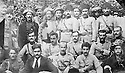 Iraq 1923.Suleimania: Wedding party of Sheikh Kader Barzinji, standing 5th from left  .Irak 1923 .Souleimania:Reception au mariage de Sheikh Kader Barzinji, debout 5eme a gauche