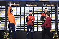 SPEEDSKATING: CALGARY: Olympic, Oval, 02-03-2019, ISU World Allround Speed Skating Championships, Podium 3000m Ladies, Antoinette de Jong (NED), Martina Sablikova (CZE), Isabelle Weidemann (CAN), ©Fotopersburo Martin de Jong