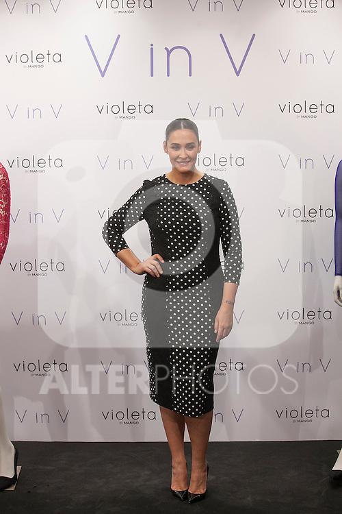 Vicky Martin Berrocal poses during V in V Violeta by Mango presentation in Madrid, Spain. March 11, 2015. (ALTERPHOTOS/Victor Blanco)