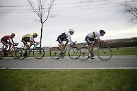 race finale with Peter Sagan (SVK/Tinkoff), Fabian Cancellara (SUI/TREK-Segafredo), Sep Vanmarcke (BEL/LottoNL-Jumbo) & Viacheslav Kuznetsov (RUS/Katusha) fighting for the honours<br /> <br /> 78th Gent - Wevelgem in Flanders Fields (1.UWT)