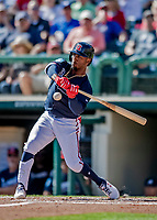 25 February 2019: Atlanta Braves infielder Ozzie Albies in action during a pre-season Spring Training game against the Washington Nationals at Champion Stadium in the ESPN Wide World of Sports Complex in Kissimmee, Florida. The Braves defeated the Nationals 9-4 in Grapefruit League play in what will be their last season at the Disney / ESPN Wide World of Sports complex. Mandatory Credit: Ed Wolfstein Photo *** RAW (NEF) Image File Available ***